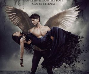 fallen, book, and angel image