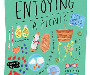 illustration, art, and picnic image