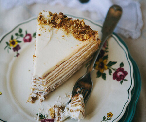 cake, food, and vintage image