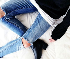 fashion, boots, and jeans image