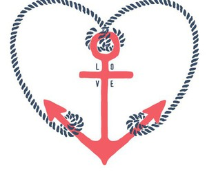 love, anchor, and heart image