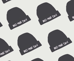background, beanie, and black image