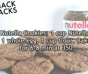 nutella, Cookies, and diy image