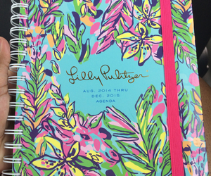agenda, preppy, and floral image