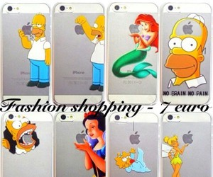 cover, iphone, and simpson image