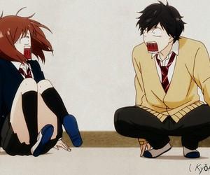 anime, couple, and Otaku image