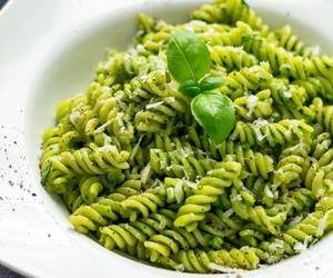 food, pasta, and pesto image