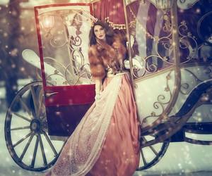princess, snow, and winter image