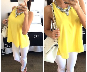 fashion, white, and yellow image