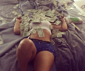 money, girl, and rich image