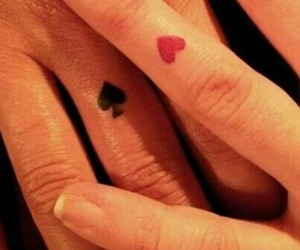 spade, tattoo, and heart image