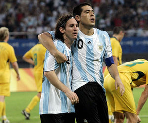 argentina, messi, and riquelme image