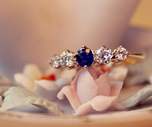 diamond, ring, and blue image