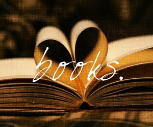 book, heart, and life image