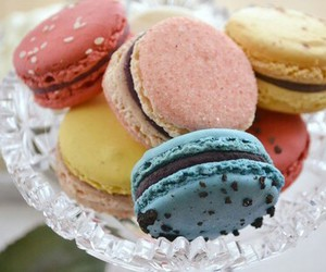 food, dessert, and macarons image