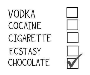 chocolate, vodka, and cigarette image