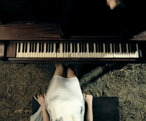 Lady gaga, piano, and you and i image