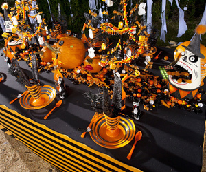 Halloween and table scape image