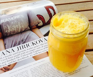 food, magazine, and drink image