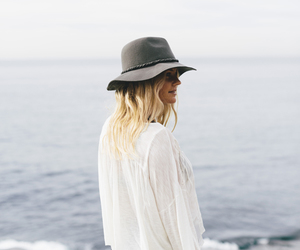 sea, hat, and ocean image