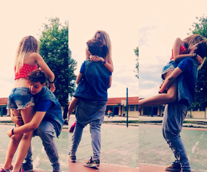 blonde, couple, and swag image