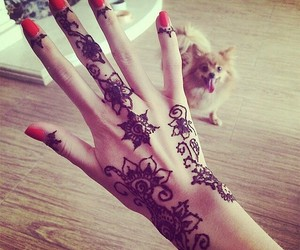 nails, hand, and henna image
