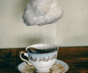rain, tea, and clouds image