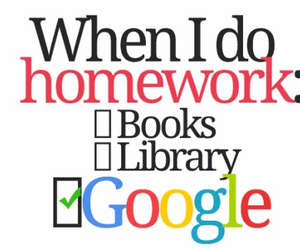 homework, google, and book image