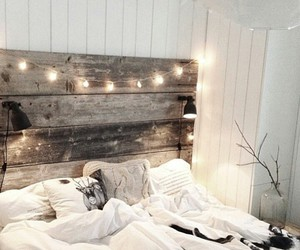 bedroom and fairy lights image