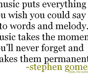 music, moment, and stephen gomez image