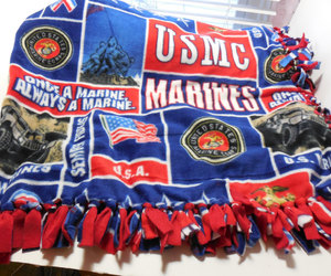 us marines and fleece blanket image