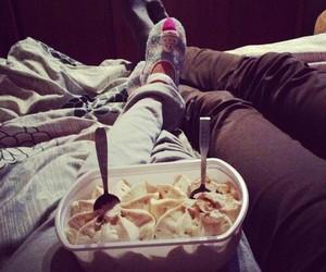 love, ice cream, and couple image