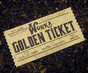 wonka, golden ticket, and chocolate image