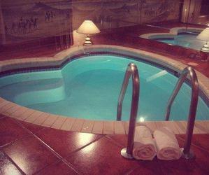 pool, heart, and luxury image