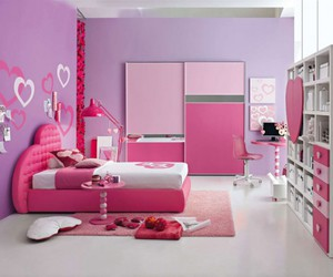 Pink Room And Bedroom Image