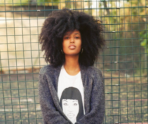 Afro, gorgeous, and african american woman image