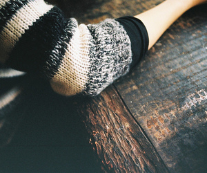sweater, photography, and wood image