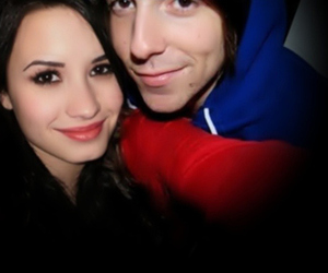 alex gaskarth, demi lovato, and all time low image