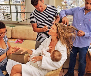 model, baby, and Gisele Bundchen image