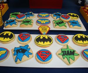 BAM, superman, and batman image