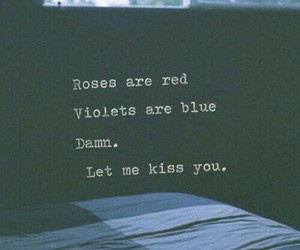 love, kiss, and poem image