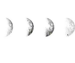 black and white, moons, and tumblr image