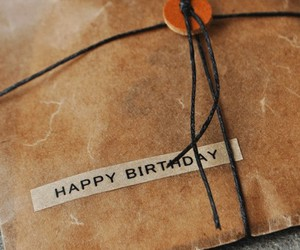 gift, happy birthday, and Letter image