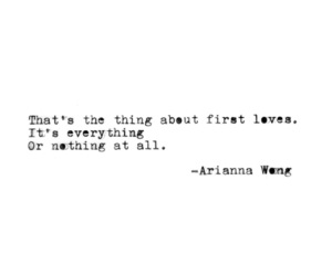 everything, first love, and thing image