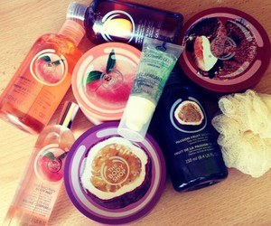 body butter, fruit, and shower gel image