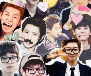 Collage, chanyeol, and exo edit image