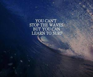 waves, quotes, and surf image