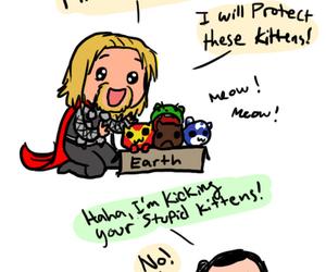 kitten, thor, and Avengers image