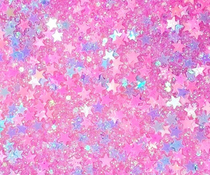 pink, stars, and glitter image