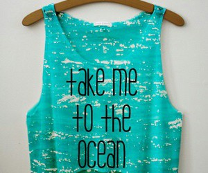 fashion, ocean, and take image